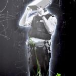 Unknown - Policeman with cctv head (stencil art, Bristol)