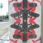 Join the Surveillance - stencil art on Fairfax Ave (Los Angeles)