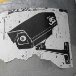 Anoniem - cctv stencil art
